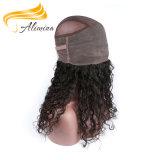 Fermetures 100% normales indiennes de lacet de couleur de cheveux humains de Vierge