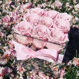 Выполненное на заказ водоустойчивое хорошее цена 9 роз акриловое хранение цветка коробки цветка
