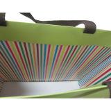 Bolsa de encargo de las compras del papel de la maneta del Grosgrain del color