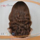 La parte superior de la piel floja Europea peluca de cabello ondulado (PPG-L-0191)