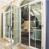 Diseño de lujo Doble acristalamiento de aluminio puerta francesa