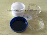 Vaso crema facciale del contenitore cosmetico di plastica trasparente