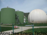 una pianta del biogas ad un'azienda agricola di pollo