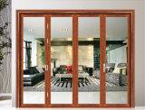 Interior exterior da vitrificação dobro queDobra a porta deslizante de 5 painéis