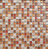 15X15mm, 유리 및 돌 혼합, 빨간색 모자이크 (M815007)