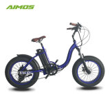 Kundenspezifisches Kapazitäts-Fabrik-fetter Gummireifen-elektrisches Fahrrad mit guter Qualität