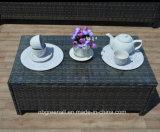خارجيّ فناء أثاث لازم مجموعة, 4 قطعة [رتّن] [ويكر] أريكة يوسّد مع [كفّ تبل]
