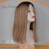 Ombre Cheveux humains Haut de la soie perruque juive (PPG-L-0628)