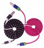 Cable micro USB, cable de datos USB trenzado Popular cable micro USB para el teléfono celular