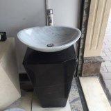 Banheira de vender produtos da Bacia de pedestal de mármore branco Natural lavar os sumidouros de casa de banho de pedra