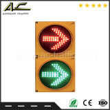 Luz de sinal verde vermelha do tráfego da esfera redonda do vário tamanho de duas lentes