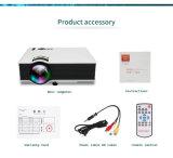 Выполненного на заказ UC46 HDMI поддержки 800 x 480 репроектора репроектора 1200lm 3D СИД WiFi Dlna AV VGA SD USB миниое домашнее видео
