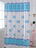 浴室のための青写真のシャワー・カーテン