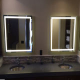 ETLの浴室ミラーLEDのライトが付いている軽いホテルの浴室ミラー