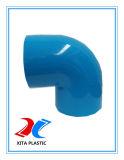 400mm를 가진 파란 색깔을%s 가진 PVC 90 Dgree 팔꿈치