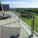 Высокий напольный стеклянный столб Railing террасы/стеклянных балюстрады нержавеющей стали