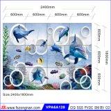 Azulejo caliente del edificio del azulejo de suelo de la venta 3D (VPA6A128)