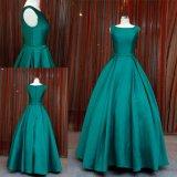 Einfache Form-cyan-blaues Ballkleid-Partei-Kleid-Abend-Kleid 2018