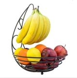 バナナの保有物のホックが付いている金属の果物かご