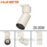 Tipo alta luz del cilindro de la pista del lumen CRI80 LED 30W