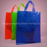 플라스틱 루프 손잡이는 쇼핑 선물 부대 승진 Polybag를 자루에 넣는다