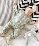 La salopette animale de barboteuse de dessin animé équipe le costume pour des enfants en bas âge de gosses de bébé, longtemps gainé