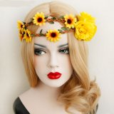 毛の装飾のための日曜日の花の花輪の毛の王冠