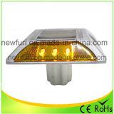 Luz que contellea del LED del espárrago solar amarillo del camino con el Ce RoHS