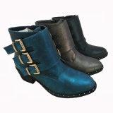 Populares señoras tacón tobillo botas de invierno