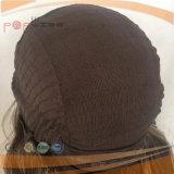Rizado de gama alta de seda Kosher judío peluca Top