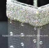 Кристаллический коробка ткани Rhinestone пробки хранения Rhinestone держателя пер серебра стикера (TB-серебр)