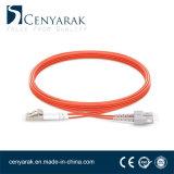 Duplex de 3 metros de cable de fibra óptica multimodo (50/125) LC a SC