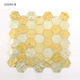 Mattonelle di mosaico di vetro del mestiere delle stanze da bagno del pavimento dell'oro di qualità superiore di colore