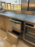 스테인리스 다방 또는 호텔 부엌 장비 (GN3130BT)를 위한 3개의 서랍 그리고 2개의 문 냉장고 일 카운터