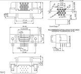 SCSI Schakelaar 14 Speld de ONDERDOMPELING van 90/180 Graad