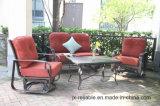 新しいデザイン庭の鋳造アルミのLoveseatの雑談のグループの家具