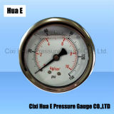 サポートCorrsion抵抗力がある液体のFillable圧力メートルの背部接続との60mm