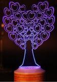 Haut-parleur de Bluetooth, lampe de bureau d'arbre de Noël 3D