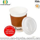 двойная кофейная чашка бумаги стены 16oz с крышкой (HDP-0911)