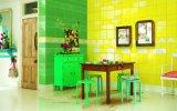 El verde 6X6 pulgadas/15x15cm brillante de la pared de cerámica esmaltada azulejo Metro baño cocina Decoración