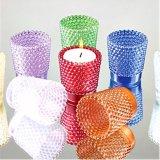 Jarra de vidro suporte para velas de cores