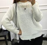 Контровочный хомутик неплотно женщин Pullover свитер женщина (BTQ216)