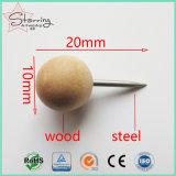 Tachuelas de pulgar de madera Shaped de la bola de la venta al por mayor 20m m para atar