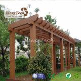 Pérgola al aire libre hermosa del jardín del Gazebo de WPC para el ocio