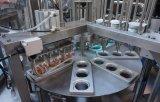고속 자동적인 자동 귀환 제어 장치 몬 회전하는 컵 충전물 및 밀봉 기계