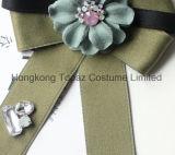 여자 복장 실크 넥타이 Bowknot 브로치 (CB-06)를 위한 최신 형식 최상 모조 다이아몬드 문학 작은 신선한 브로치