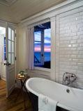 """浴室および台所のための3 """" X6 """" /7.5X15cmの白い光沢のある斜めの地下鉄か地下鉄のタイル"""