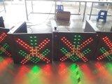 Traversa rosso-chiaro del segnale di controllo del vicolo di En12368 LED & freccia verde