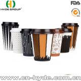 Ondulation de tasse de café en papier jetables pour boire à chaud (12 oz)