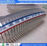 En PVC flexible d'aspiration de l'eau avec du fil en acier renforcé en spirale